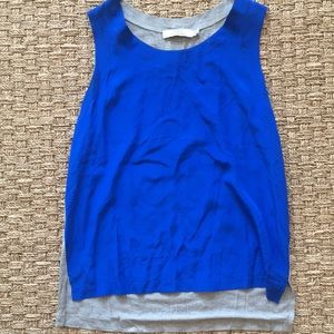 Robert Rodriguez sz 6 Medium Blue / Gray Silk top